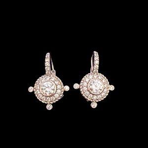 Judith Ripka Silver Diamonique Drop Earrings